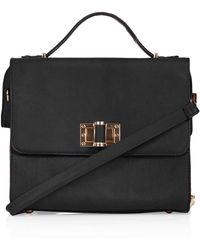 TOPSHOP - Winged Turnlock Holdall - Lyst