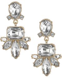 Banana Republic Regalia Drop Earring Clear Crystal white - Lyst
