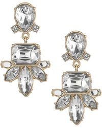 Banana Republic Regalia Drop Earring Clear Crystal - Lyst