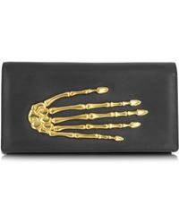 Bernard Delettrez Black Nappa Leather Pochette W/Skeleton Hand - Lyst