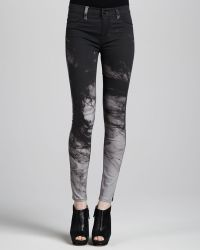 Hudson Nico Printed Midrise Skinny Pants - Lyst