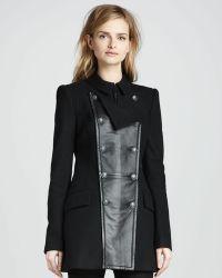 Rachel Zoe Monaco Leatherpanel Coat - Lyst