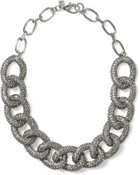 Banana Republic Sky Pave Link Necklace Silver - Lyst