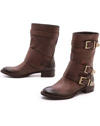 Boutique 9 - Radannah Low Heel Buckle Boots - Lyst