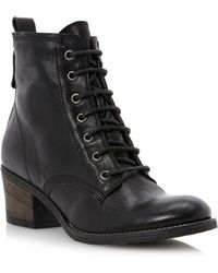 Dune Peetonslace Up Heeled Ankle Boots - Lyst