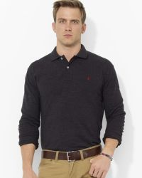 Ralph Lauren Polo Classicfit Longsleeved Cotton Mesh Polo - Lyst