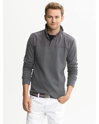 Banana Republic Knit Half Zip Pullover  - Lyst