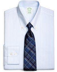 Brooks Brothers Supima Cotton Noniron Extraslim Fit Buttondown Twill Music Stripe Luxury Dress Shirt - Lyst
