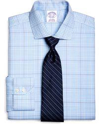 Brooks Brothers Supima Cotton Noniron Regular Fit Spread Collar Twill Glen Plaid Luxury Dress Shirt - Lyst