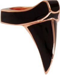 Dominic Jones - Enamel Rose Gold Claw Ring - Lyst