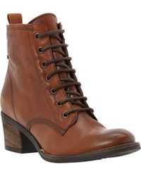 Dune Peetons Leather Lace-Up Boots - For Women - Lyst