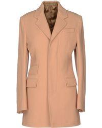 John Galliano Coat beige - Lyst