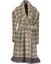John Galliano Gray Coat - Lyst
