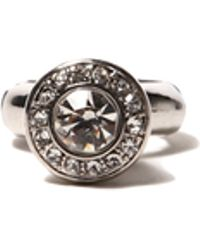 AKIRA - Urn Stone Ring in Silver - Lyst