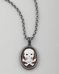 Amedeo - Hand-carved Skull Cameo Necklace - Lyst