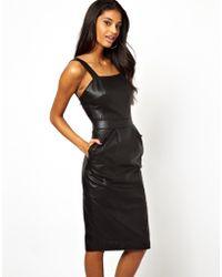 Sugarhill - Lazy Oaf Dot Shirt Dress with Plaid Collar - Lyst
