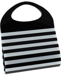 Black.co.uk - Clio Black & Silver Striped Cocktail Bag - Lyst