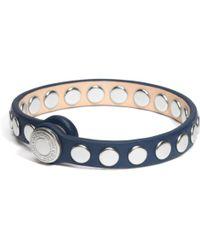 Coach Skinny Stud Leather Bracelet - Lyst