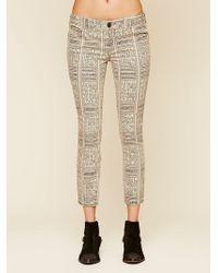 Free People Isla Printed Skinny Jeans - Lyst