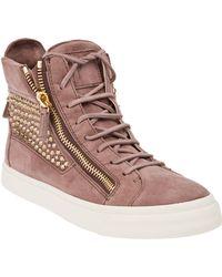 Giuseppe Zanotti Studded Hitop Sneaker - Lyst