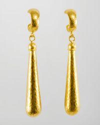Gurhan - Splash 24k Gold Long Drop Earrings - Lyst