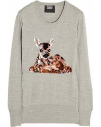 Markus Lupfer Deer Sequined Merino Wool Sweater - Lyst
