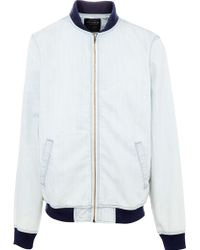 Pull&Bear Denim Bomber Jacket - Lyst