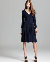 Armani Dress Long Sleeve V Neck - Lyst