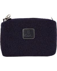 Calabrese Bags - Navy Gajola Boiled Wool Wash Bag - Lyst