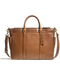Coach Bleecker Metropolitan Bag in Leather - Lyst