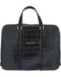 DSquared² - Large Textured Briefcase - Lyst