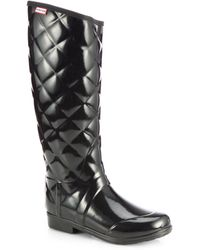 Hunter Quilted Rain Boots - Lyst