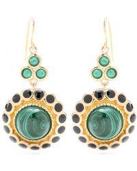 Isharya - Maharani 18kt Goldplated Malachite Earrings - Lyst