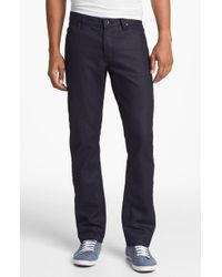 John Varvatos Bowery Coated Straight Leg Jeans - Lyst