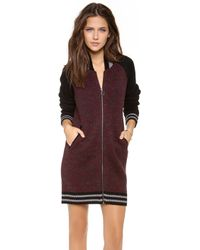 StyleStalker - Triple Threat Cardigan - Burgundy - Lyst