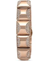 Vince Camuto - Mini Rose Gold Tone Glitz Pyramid Cover Bracelet Watch 17mm - Lyst