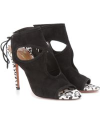 Aquazzura - Mytheresacom Exclusive Sexy Thing Suede Sandals - Lyst
