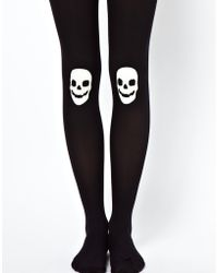 Fred Perry - Asos 80 Denier Glow in The Dark Skull Tights - Lyst