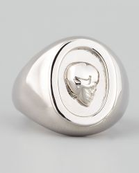 Eddie Borgo - Skull Cameo Ring Silver - Lyst