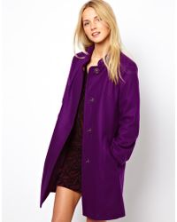 French Connection Wool Coat - Lyst