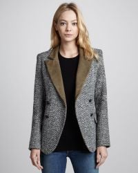 Laveer Kadette Peacoat with Suede Trim - Lyst