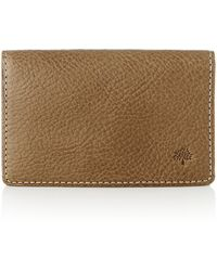 Mulberry business card holder in brown for men lyst mulberry business card holder lyst reheart Gallery
