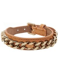 Mulberry Chain and Leather Bracelet - Lyst