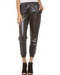 StyleStalker - Hoop Dreams Faux Leather Trousers - Lyst