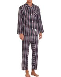 Thom Browne - Check Print Pyjama Set - Lyst