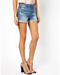 Vero Moda Very - Very By Vero Moda Denim Shorts - Lyst