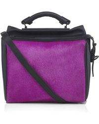 3.1 Phillip Lim Small Ryder Satchel with Calf Hair - Lyst