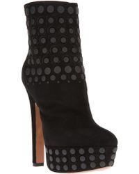 Alaïa Black Embellished Boot - Lyst