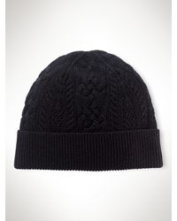 Ralph Lauren Blue Label - Sparkle Aran Watch Cap - Lyst