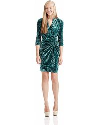 Catherine Malandrino Velvet Dress - Lyst